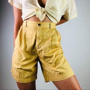[Vintage] JANTZEN Cotton High Rise Pleat Shorts M